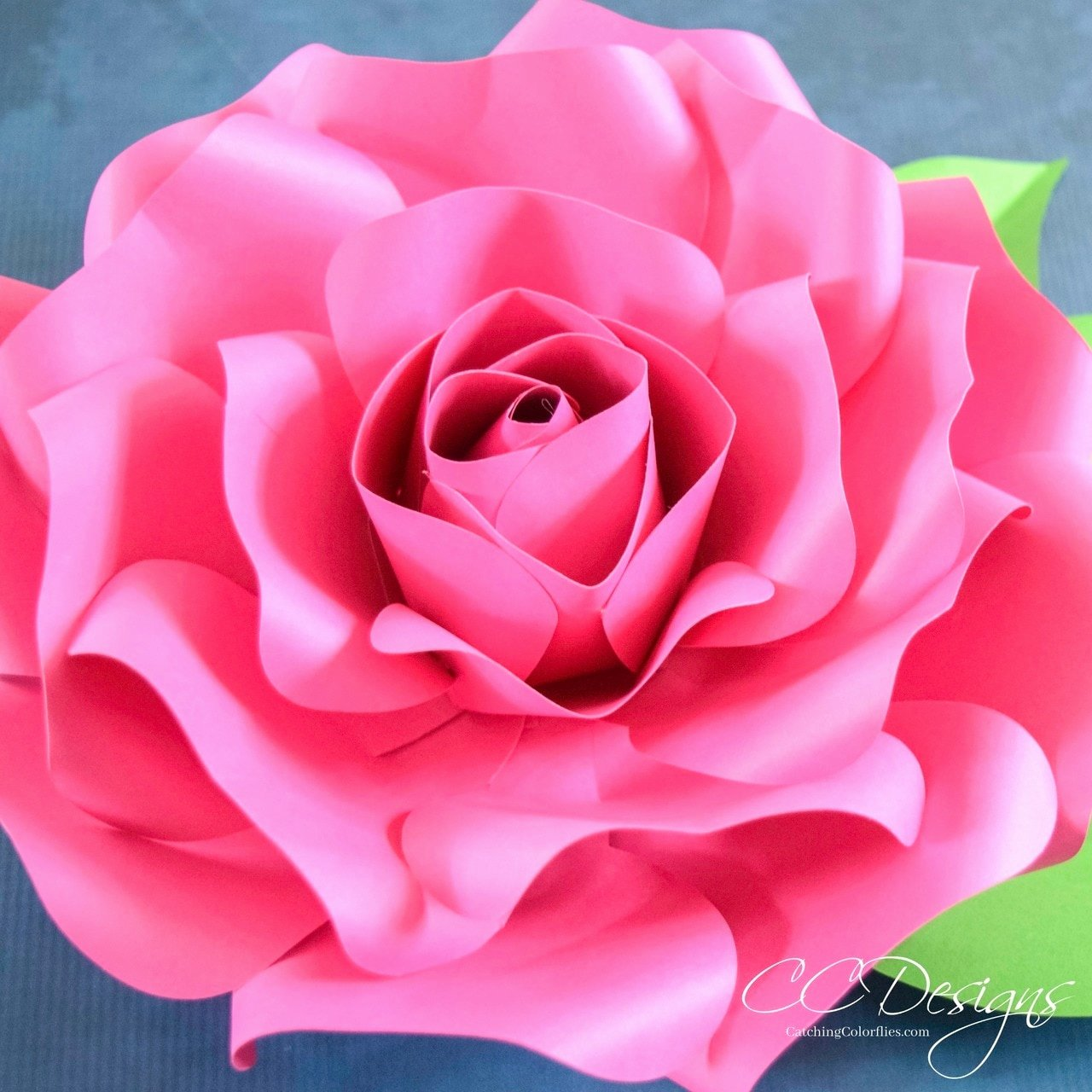 Paper Rose Template Printable Elegant Alora Garden Giant Paper Rose Template & Tutorial