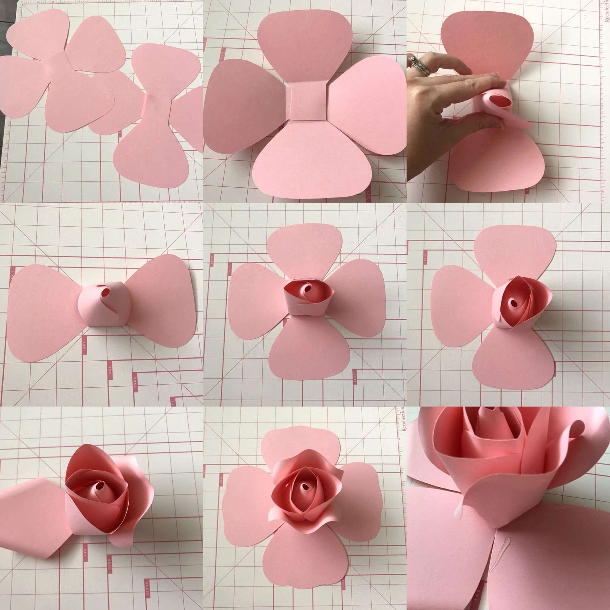Paper Rose Template Printable Elegant Free Templates and Tutorial On Ann Neville Design Blog
