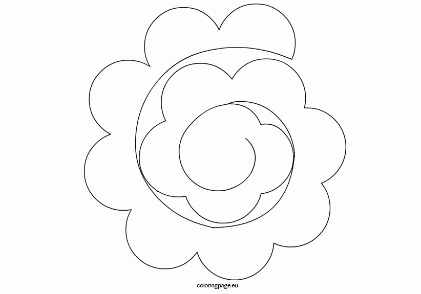 Paper Rose Template Printable Elegant Paper Flower Templates