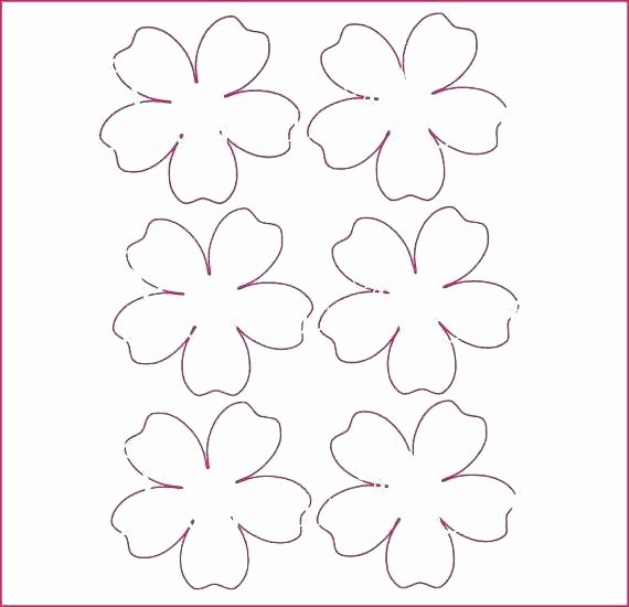 Paper Rose Template Printable Inspirational Flower Stencils Printable Mini Paper Flower Template