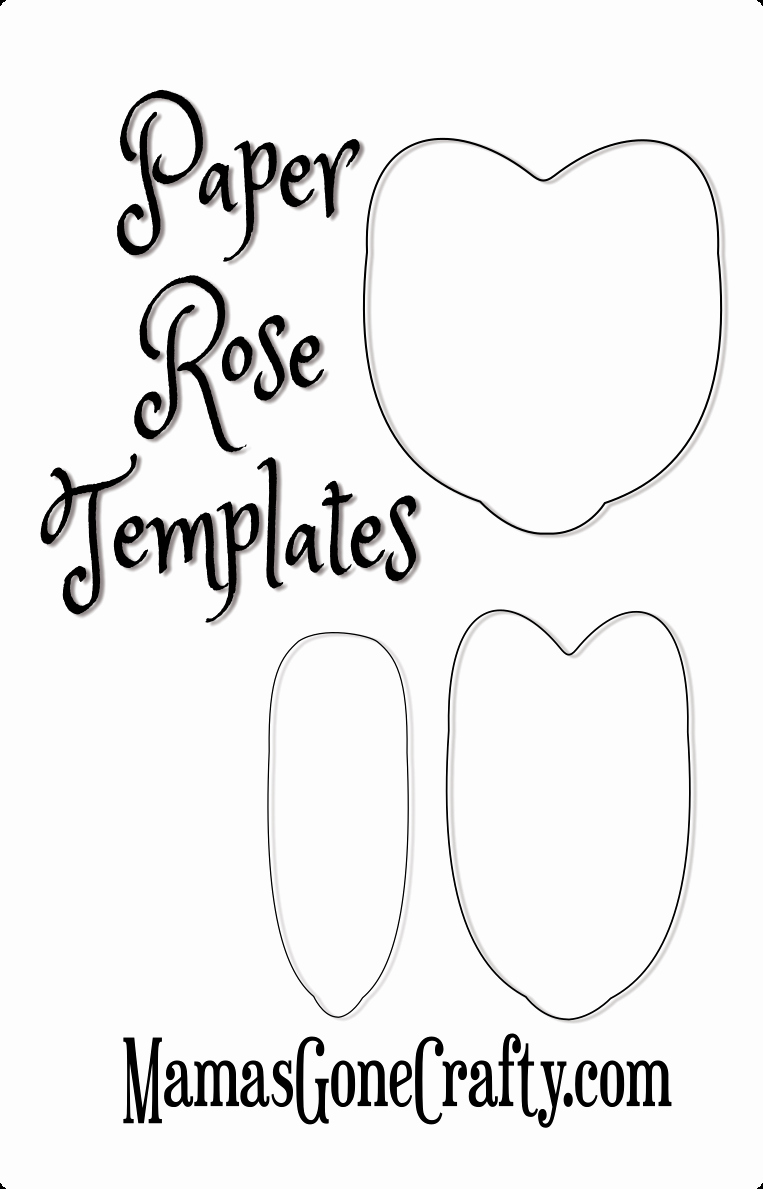 Paper Rose Template Printable Inspirational Free Printable Paper Rose Templates Remember that Stunning