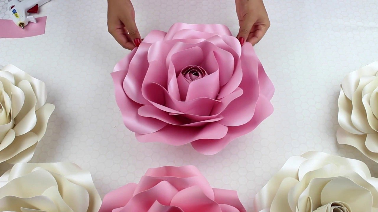 Paper Rose Template Printable Unique Diy Rose Tutorial Size Paper Rose