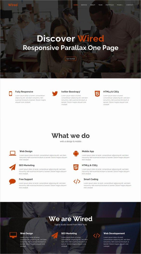 Parallax Website Template Free Best Of 30 Best Parallax HTML5 Templates