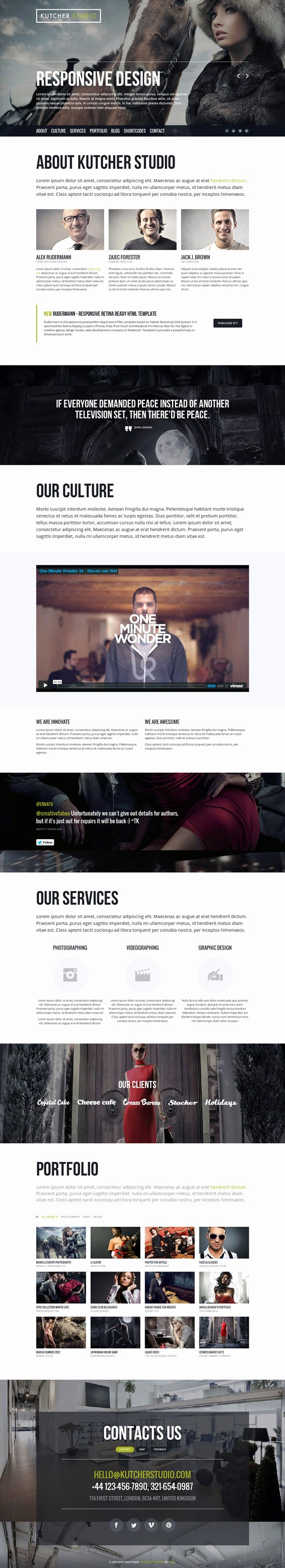 amazing one page parallax scrolling website templates