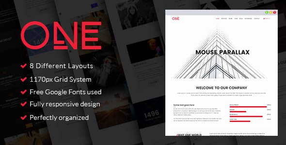 Parallax Website Template Free Lovely E Parallax HTML Template Nulled Download