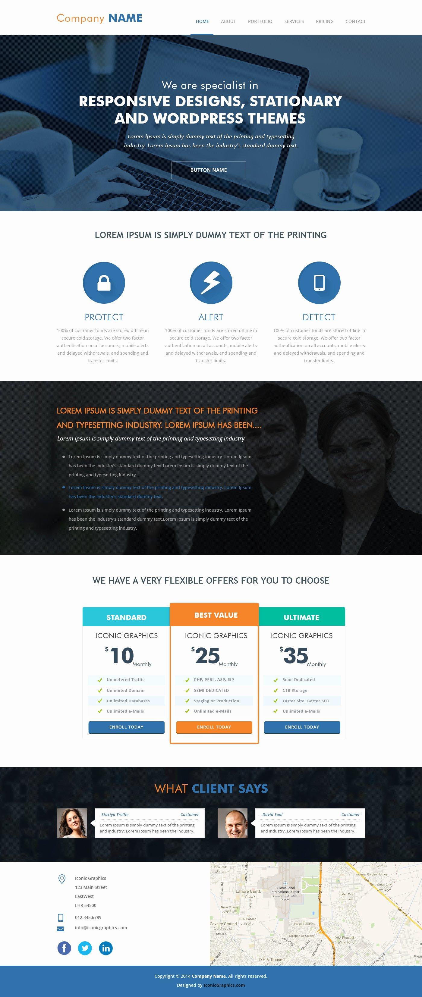 Parallax Website Template Free Luxury Parallax Psd Template