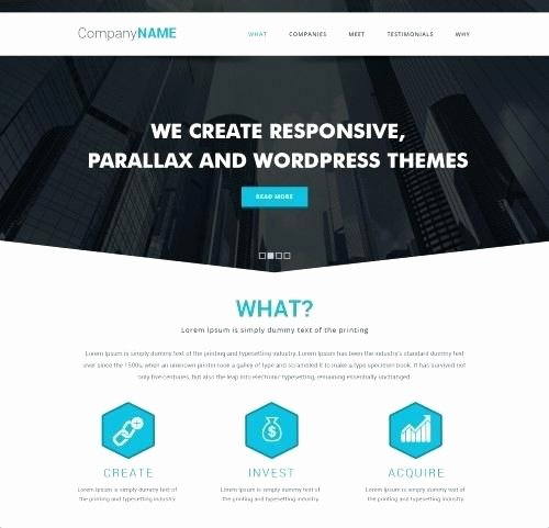 Parallax Website Template Free Luxury Parallax Website Template – Hafer