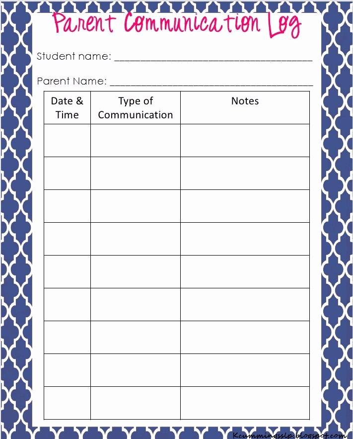 Parent Contact Log Template Inspirational Parent Contact Log Template In Excel Excel Template