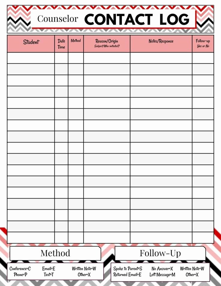 Parent Contact Log Template Unique Parent Contact Log Template In Excel Excel Template