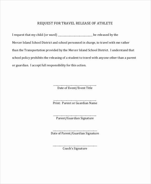 Parent Release form Template Inspirational 8 Sample Parent Release forms