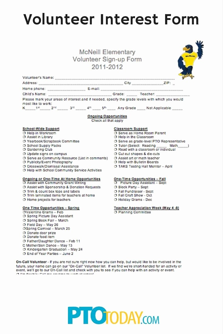 Parent Volunteer form Template Awesome Get An Idea Of What Parents Would Like to Do