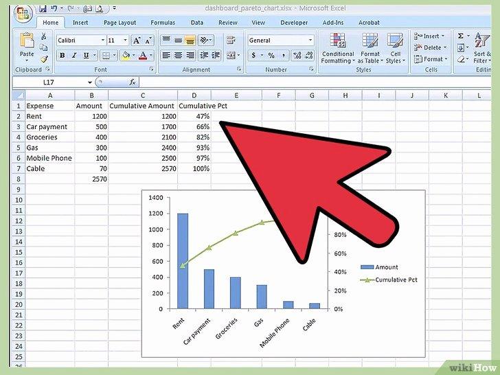 Pareto Chart Excel Template Awesome O Criar Um Gráfico De Pareto No Excel 2010 14 Passos