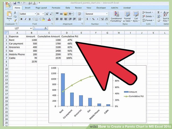 Pareto Chart Excel Template Fresh How to Create A Pareto Chart In Ms Excel 2010 14 Steps