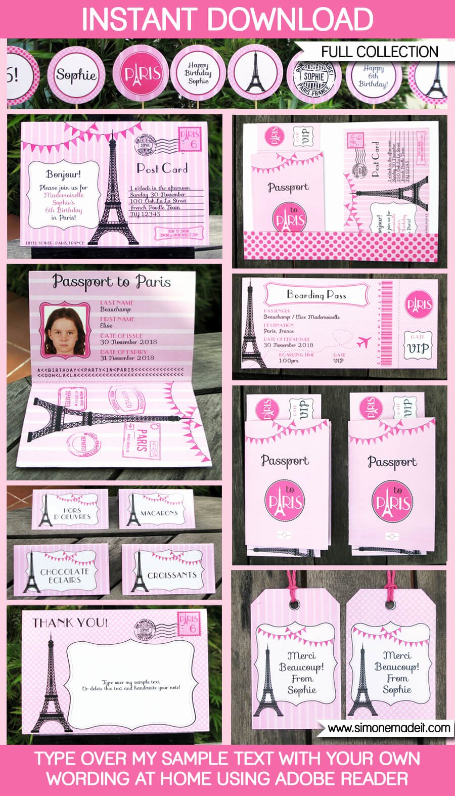 Paris Passport Invitation Template Awesome Paris Party Printables Invitations & Decorations