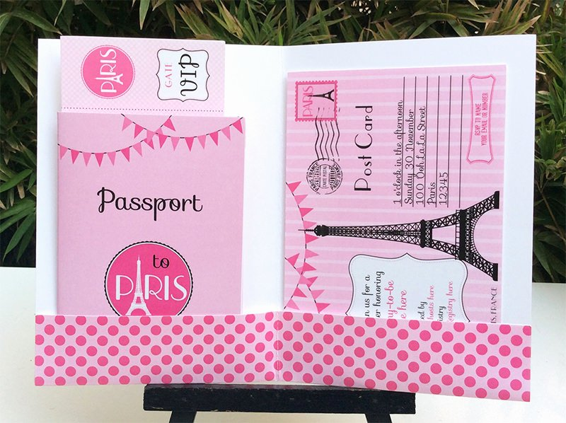 Paris Passport Invitation Template Best Of Paris Baby Shower theme Printables
