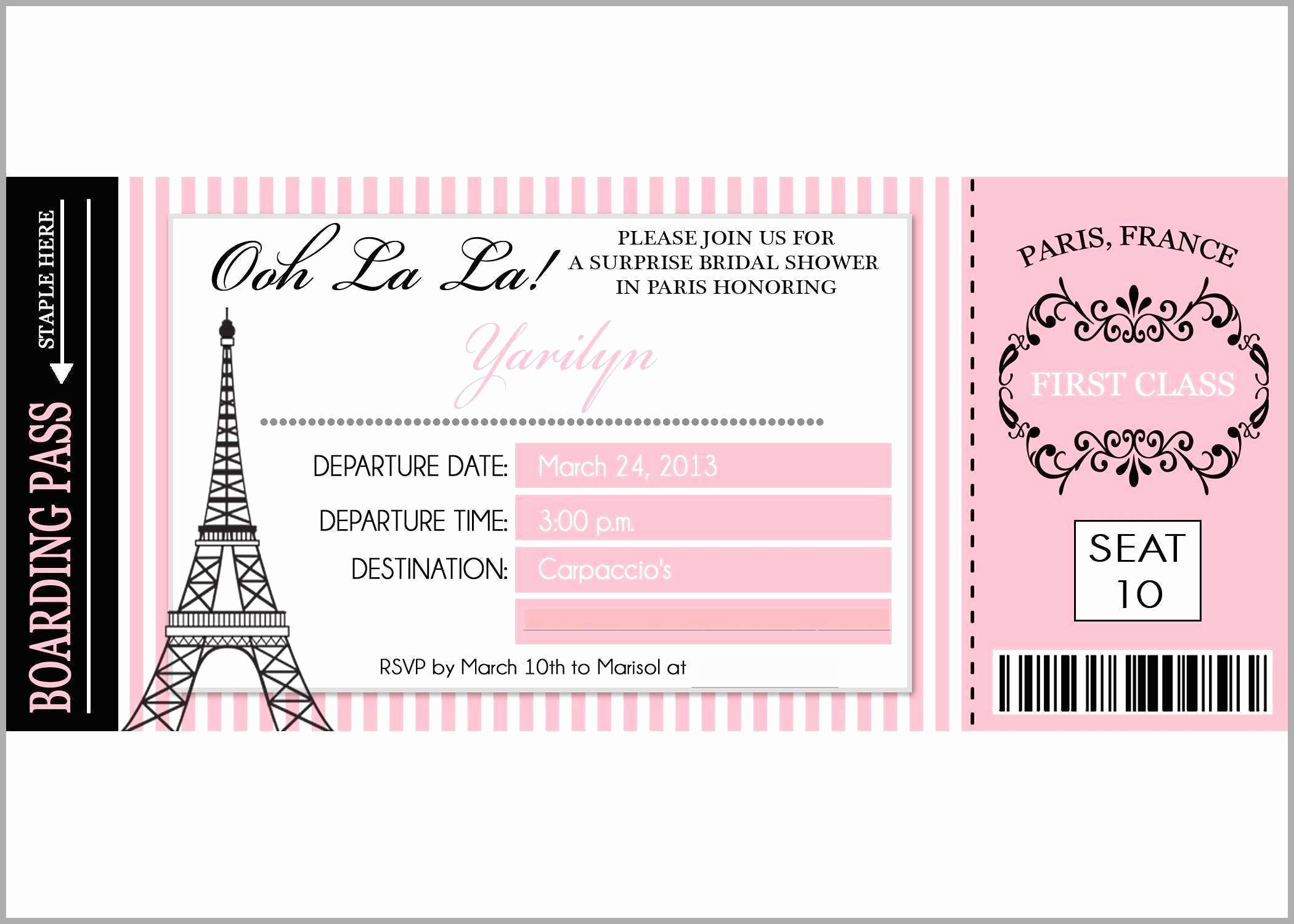 Paris Passport Invitation Template Best Of Paris Passport Invitation Template Fabulous Paris Party