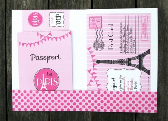 Paris Passport Invitation Template Lovely 43 Best Images About Parisian Party On Pinterest