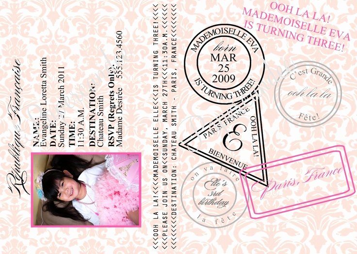 Paris Passport Invitation Template Lovely the original Paris Passport Invitations Paris Invitation