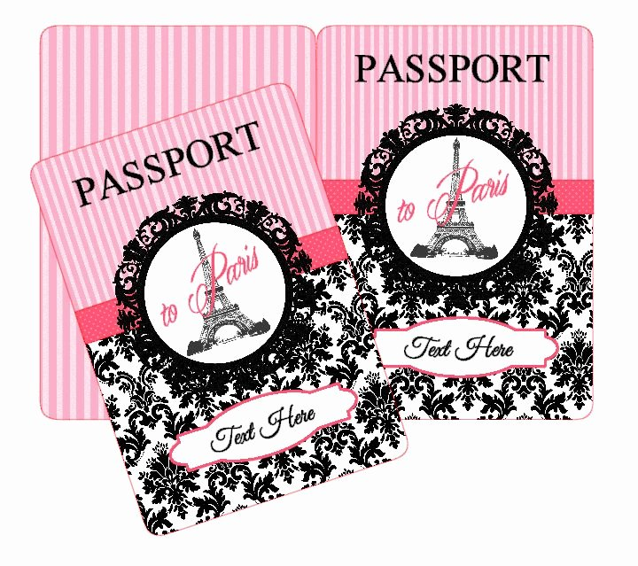 Paris Passport Invitation Template New 16 Best Tarjetas Perli Images On Pinterest