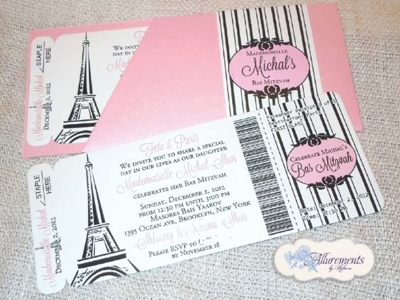 Paris Passport Invitation Template New Boarding Pass Invitations From Allurements by Rebecca