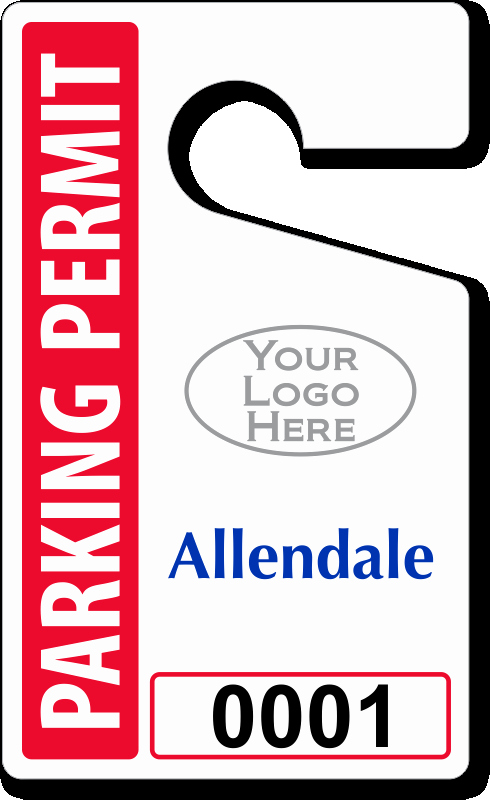 "Parking Hang Tag Template Awesome Custom Parking Tag Designs – 5"" X 3"""