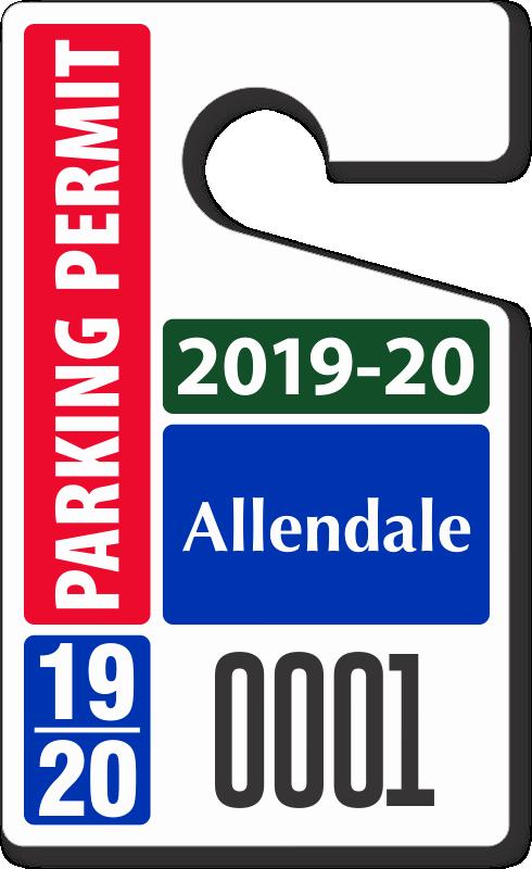 "Parking Hang Tag Template Beautiful Custom Parking Tag Designs – 5"" X 3"""
