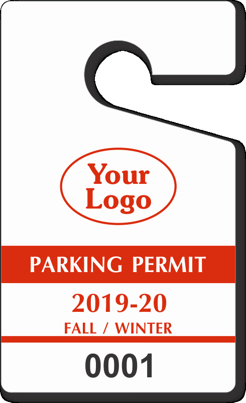 "Parking Hang Tag Template Beautiful Custom Parking Tag Designs – 5"" X 3"""