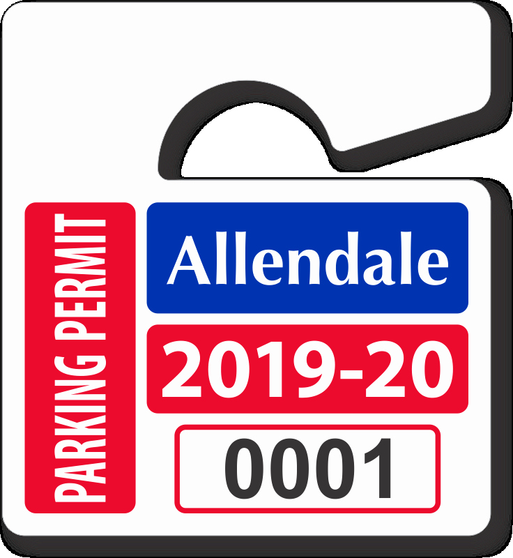 Parking Hang Tag Template Best Of Mini Parking Permit Mirror Tags