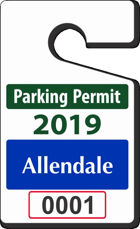 "Parking Hang Tag Template Elegant Custom Parking Tag Designs – 5"" X 3"""