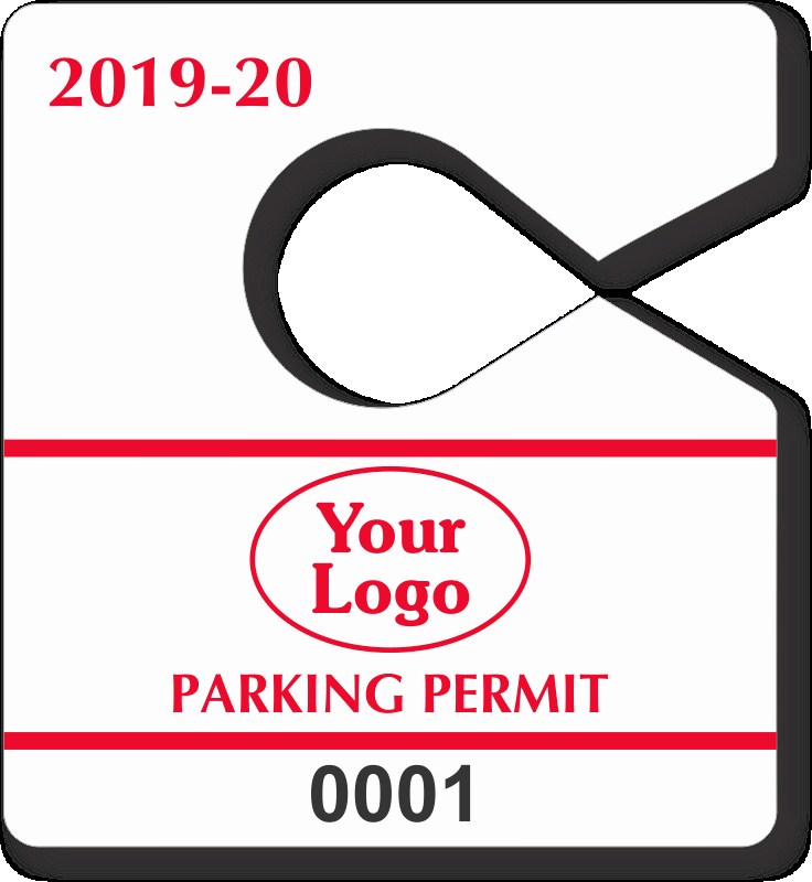 Parking Hang Tag Template Elegant Mini Parking Permit Mirror Tags