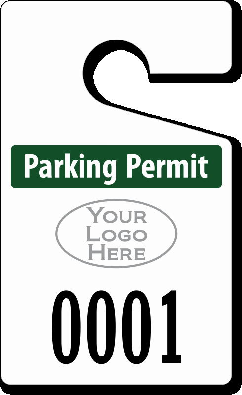 "Parking Hang Tag Template Inspirational Custom Parking Tag Designs – 5"" X 3"""
