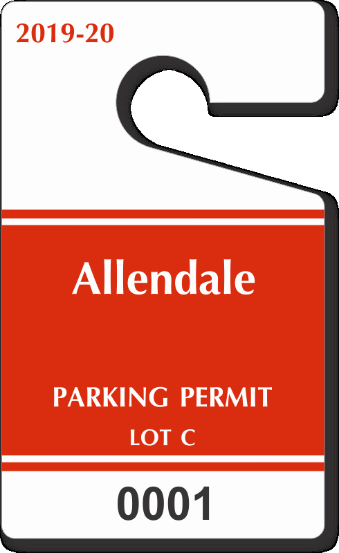 "Parking Hang Tag Template Luxury Custom Parking Tag Designs – 5"" X 3"""