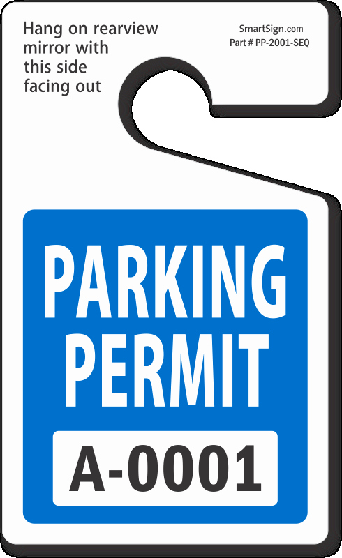 Parking Hang Tag Template New In Stock Parking Permits