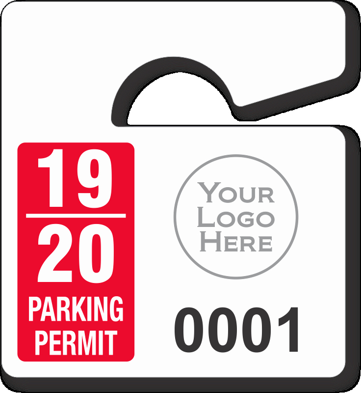 Parking Hang Tag Template Unique Mini Parking Permit Mirror Tags