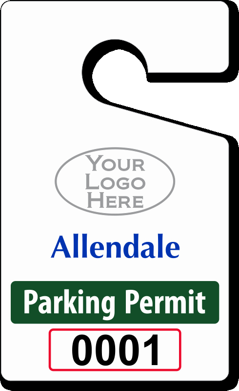 "Parking Hang Tags Template Awesome Custom Parking Tag Designs – 5"" X 3"""