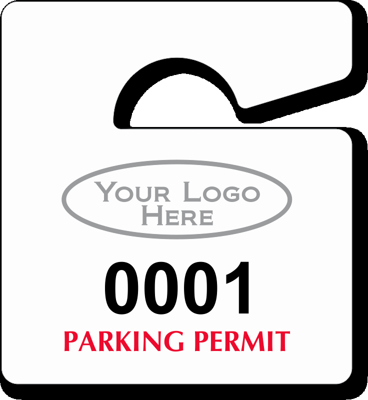 Parking Hang Tags Template Beautiful Mini Parking Permit Mirror Tags