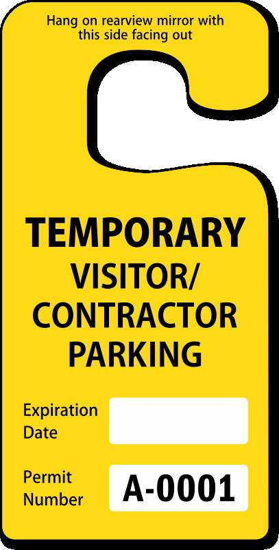 Parking Hang Tags Template Best Of Contractor Parking Passes Contractor Parking Permits