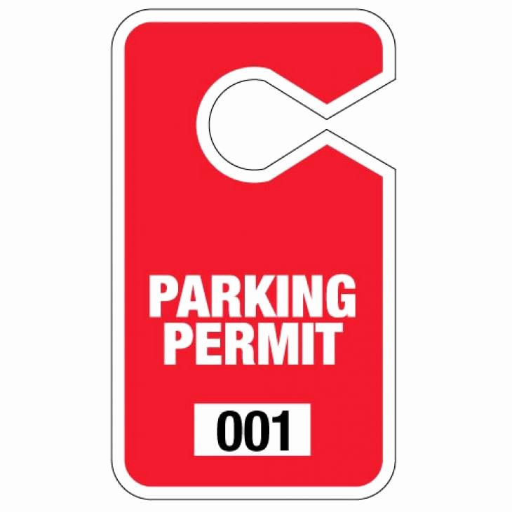 Parking Hang Tags Template Elegant Parking Hang Tags solid Color