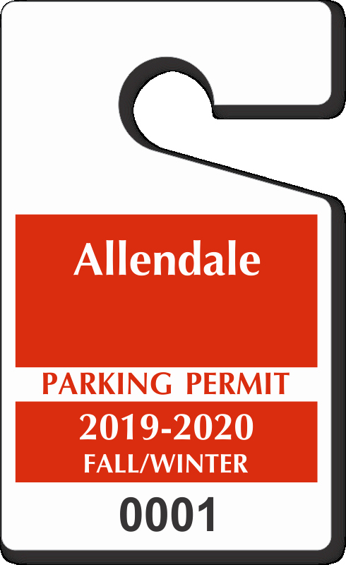 "Parking Hang Tags Template Fresh Custom Parking Tag Designs – 5"" X 3"""