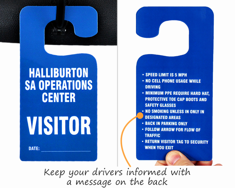 Parking Hang Tags Template New Big Foot Parking Permits Jumbo Size Hang Tags