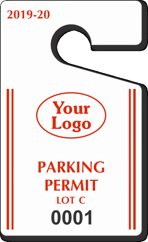 "Parking Hang Tags Template Unique Custom Parking Tag Designs – 5"" X 3"""