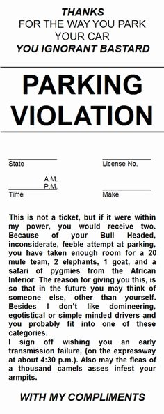 parking tickets template free