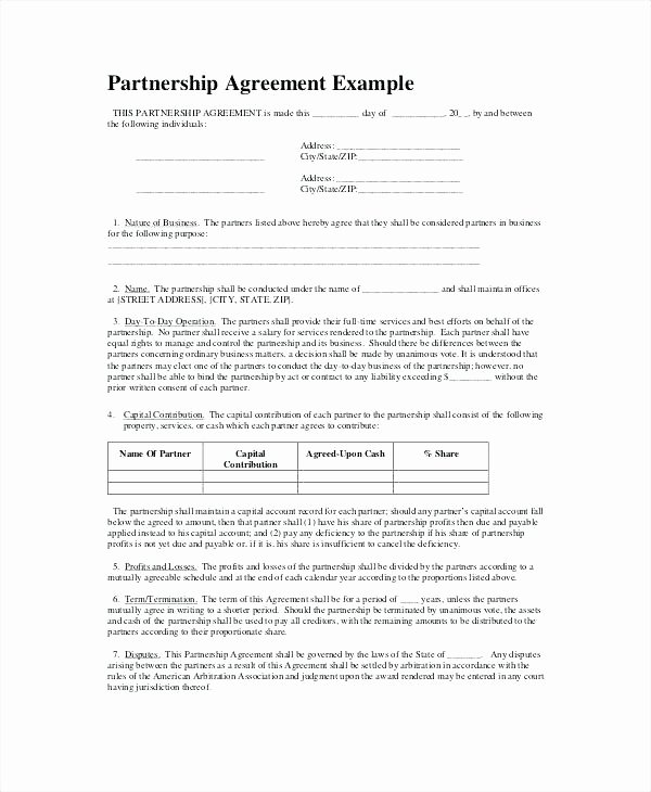 Partnership Agreement Template California Beautiful Non Pete Agreement Template Simple Templates Free