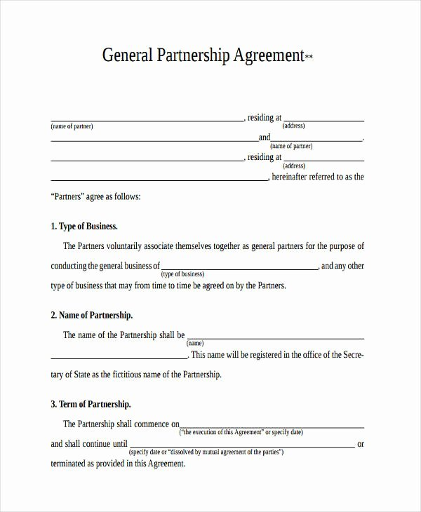 Partnership Agreement Template California New 49 Examples Of Partnership Agreements