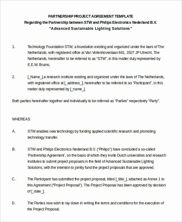 Partnership Agreement Template Pdf Beautiful Partnership Agreement 11 Free Word Pdf Documents