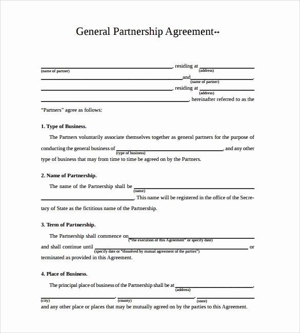 Partnership Agreement Template Pdf Best Of 11 Sample Business Partnership Agreement Templates to