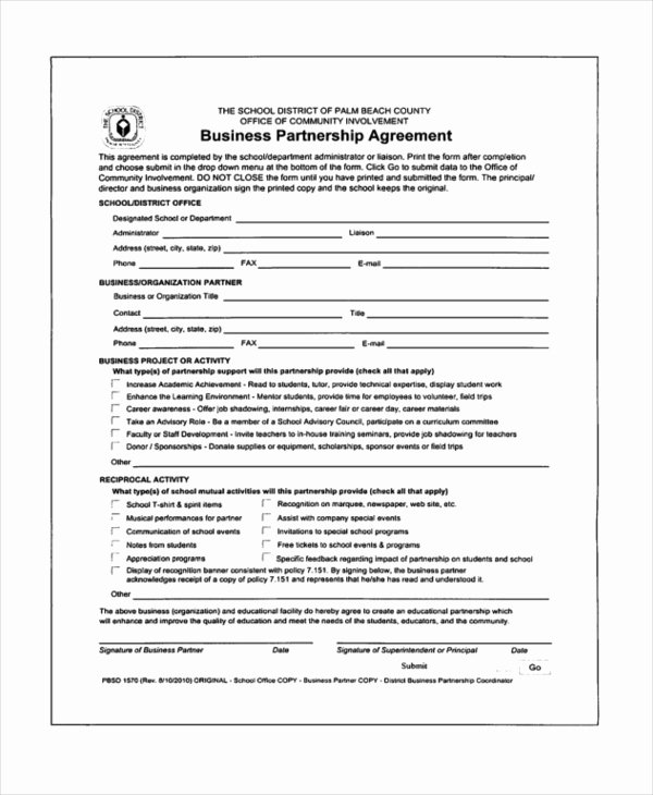 Partnership Agreement Template Pdf Best Of Partner Agreement form