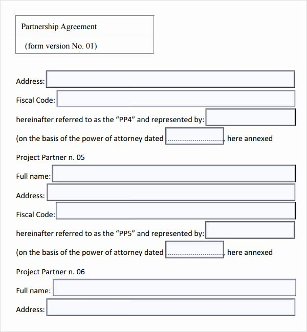 Partnership Agreement Template Pdf Lovely 16 Partnership Agreement Templates