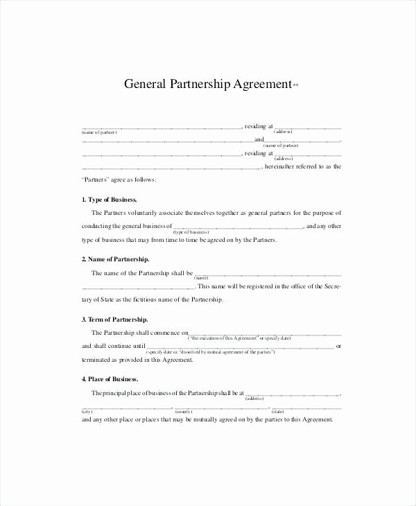 Partnership Agreement Template Pdf New Business Partnership Agreement Template Pdf – Threestrands