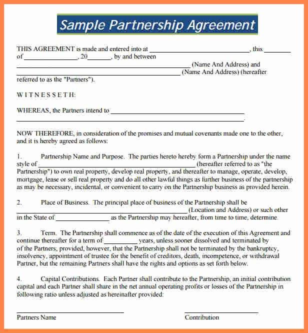 Partnership Agreement Template Pdf Unique 8 Partnership Agreement Template south Africa